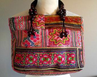 Ethnic Patchwork Boho Handbag