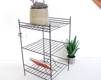Modern Black Metal Record / Book / Plant Stand