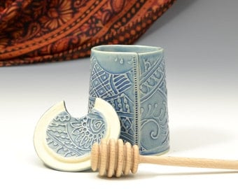Honey Pot  Paisley and floral henna patterns