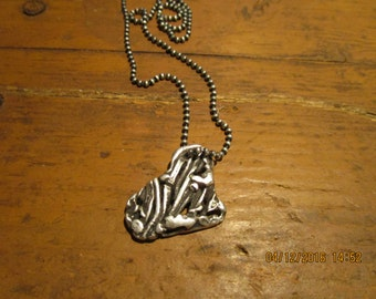 One of a Kind Sterling Silver Heart Pendant Necklace