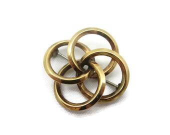 Love Knot Brooch - Vintage, Gold Tone, Costume Jewelry