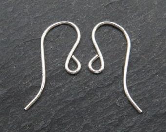 Sterling Silver Plain Ear Wire ~ PAIR (CG7815)