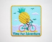 Time for adventure Pineapple Iron On Patch