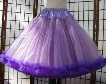 Petticoat Orchid Lavender Organdy with Purple Chiffon Size Medium Custom