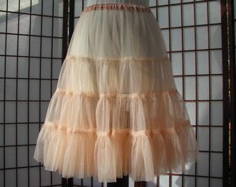 Petticoat Peach Chiffon -- Custom Order