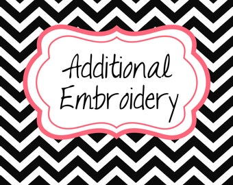 Additional Embroidery