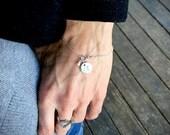 Medical Alert Bracelet, Medical ID Bracelet, Silver Charm Bracelet, Personalized Charm Bracelet with Birthstone