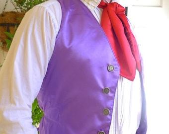 Purple Satin Gentlemen's Vest