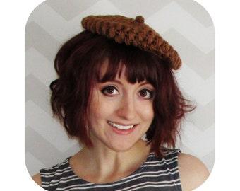 INSTANT DOWNLOAD - sweet acorn mini beret - PDF crochet pattern