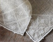 Linen Napkin Set, Embroidered Napkins, Antique Textiles, Table Linens, Kitchen & Dining