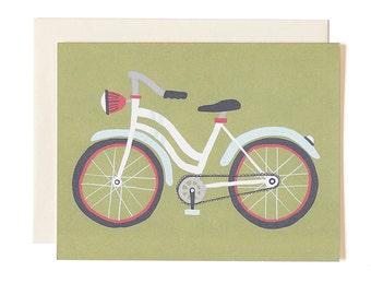 Green Bike Illustrated Card
