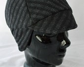 Static Winter Bike Hat (XL) of Chunky Textured Recycled Cotton Knit With Earflap