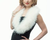 Promo Sale Bridal Evening Wrap/ Shrug. Marabou and Ostrich Feather