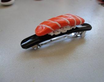 Salmon Sushi Hair Barrette