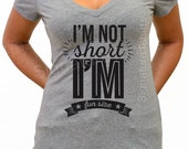 Valentine's day gift I'm not short I'm fun size tee funny gift for sister Birthday Gift Cool Soft V neck Womens shirt Wife gift Wedding gift