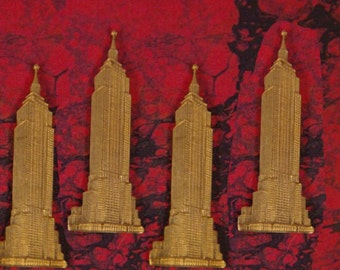 4 Brass Empire State Building Stampings