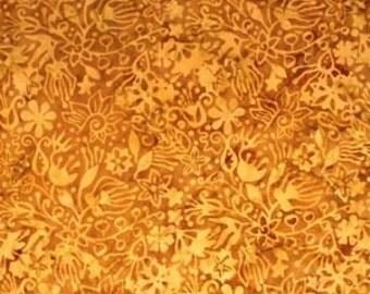 NEW - Gold Floral Batik - 9052