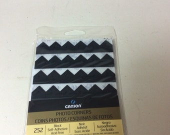 Black Canson Photo Corners 1 Pack 252 corners