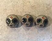 Ceramic Skull with Third Eye magnets (set of 3)