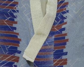 Vintage nagajuban S238, multi colored silk
