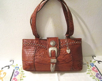 Tooled Leather Purse American West Hand Tooled Bag