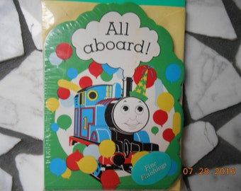 1991 Thomas the Tank 16 Birthday party invitations in sealed package
