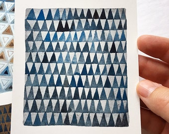 Triangoli No. 2 pattern, original watercolor painting