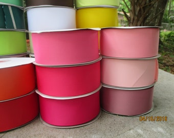 Grosgrain Ribbon  Wide Grosgrain Ribbon  2.4 Inches Wide  33 Colors