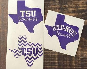 Tarleton State University Tarleton Texans Decal Stickers