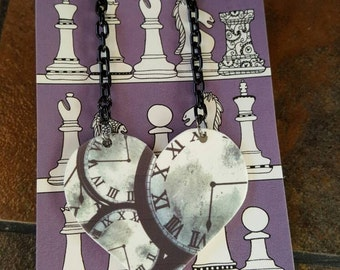 Shrink Art Clocks Necklace