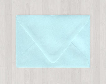 10 A2 Envelopes - Euro Flap - Light Blue - DIY Invitations and Response Cards - Envelopes for Weddings and Other Events