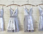 Custom Grey Bridesmaids Dresses
