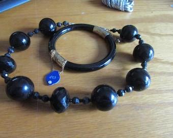 shiny black jewelry