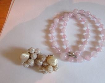 bumpy clips pink quartz
