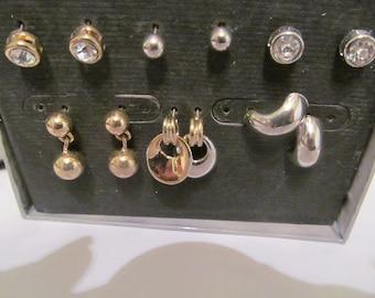 six post earrings set