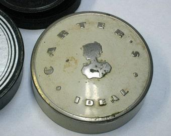 Vintage Carter's Ideal Typewriter Ribbon Tin with Ribbon Spool