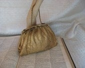 Vintage 1950's Gold Whiting and Davis Mesh Purse - NEEDS CLASP REPAIR