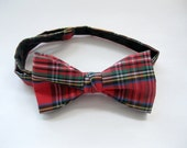 Childs Bow Tie, Bow Tie, Bowties, Red Plaid, Tartan Bow Tie, Toddler Bow Tie, Dress Up, by enfantjjoli on etsy