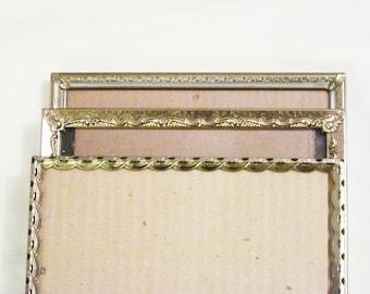 Vintage Metal Picture Frames Ornate Gold Metal Frames
