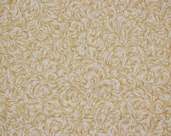 1920s Vintage Antique Wallpaper Gold Metallic Swirls-by the Yard--Made in Belgium