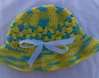 Child's Crocheted Sunhat