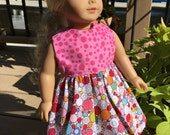 DOTS & BUBBLES - 18-Inch Doll Dress