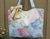 Tote Bag Purse Cath Kidson Hydrangea Print