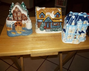 Set of 3 village houses