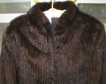 Mink Jacket Fur Coat Vintage Size Large