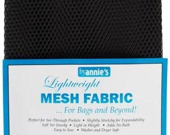 Mesh fabric Light Lite Weight--18 inch x 54 inch Pocket Mesh BLACK