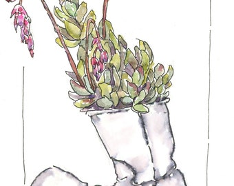 "original watercolor ~ featured in Sketchbook Skool "" Beginning"" semester"