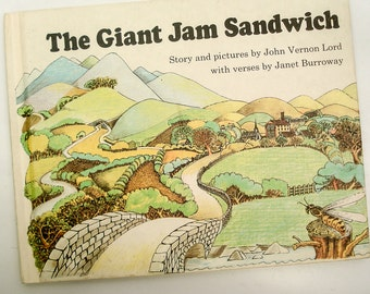 The Giant Jam Sandwich - children's book - 1972
