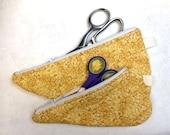 Scissor Cozy, Scissor Tote., Scissor Storage Bag, Scissor Caddy, Set of 2