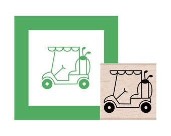 Golf Cart Rubber Stamp